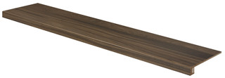 DCFVF144 Board tmavě hnědá schodová tvarovka 29,8x119,8x1