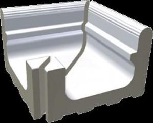 XPA52023 Pool bílá přel.žlábek Wiesb.vněj.roh 23,8x22,5x16