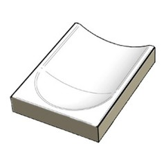 XPE58023 Pool White odtok. kanál koncový díl 19,7x1,5x0,35