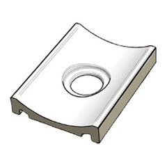 XPD58023 Pool White odtokový kanál s otvorem 19,7x1,5x0,35