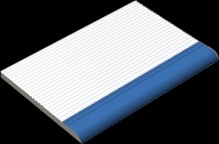 XPP57005 Pool bílá/tmavě modrá schod.stupeň zaobl. 19,7x15