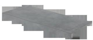 DCF84724 Extra tmavě šedá schodová tvarovka 39,8x79,8x1