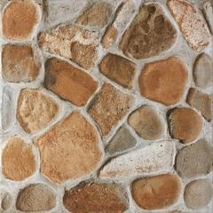 DAR3B703 Pebbles červeno-hnědá dlaždice 33,3x33,3x0,8