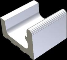 XPP52023 Pool bílá přelivový žlábek Wiesb. 19,5x22,5x16/11