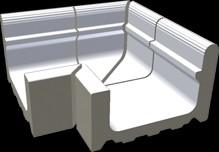 XPA51023 Pool bílá přel.žlábek Wiesb.vněj.roh 39,1x30x20