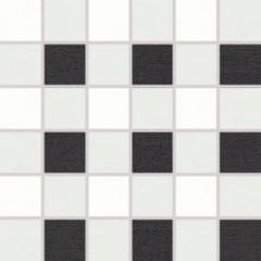 WDM06152 Tendence bílo-černá mozaika 30x30 cm 4,7x4,7x1