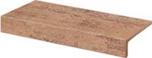 DCFJH037 Travertin hnědá balkonová tvarovka 29,9x15x0,8