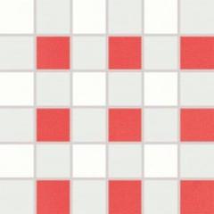 WDM06153 Tendence bílo-červená mozaika 30x30 4,7x4,7x1