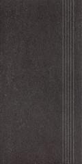 DCPSE613 Unistone černá schodovka 29,8x59,8x1,0