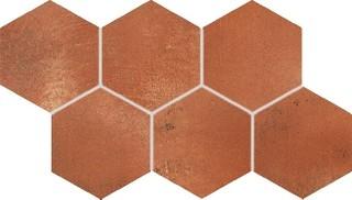 DDVT8712 Via červeno-hnědá dlaždice dekor 120/70x8
