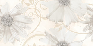 Sabro bianco kwiat inserto 29,5x59,5