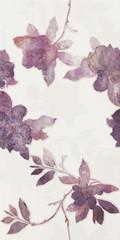 Luciola ecru inserto fiori 30x60