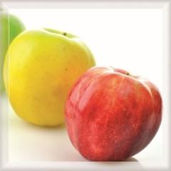 Inserto szklane jablka fazowane 25x25