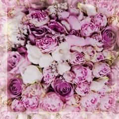 Inserto szklane kwiaty fazowane 25x25
