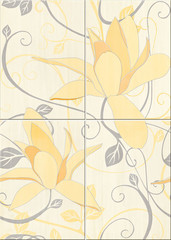 Artiga yellow composition flower 50x70