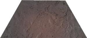 Semir rosa trapez 12,6x29,6