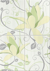 Artiga light green composition flower 50x70