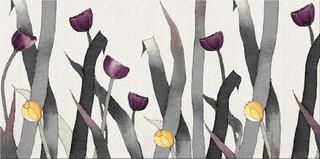 Elegant textile multicolour inserto flower 29,7x60