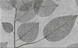 Lussi light grey inserto leaf B 25x40