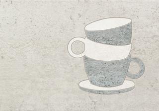 Dekor Gris Cup 25x36
