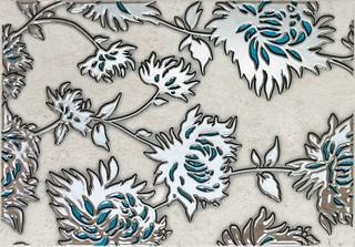 Dekor Gris flower turkus 25x36