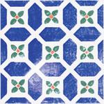 Majolika modrá inzerto avignon 15 20x20