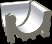 XPI51023 Pool bílá přel.žlábek Wiesb.vnitř.roh 29,3x29,3x20