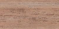 DCPSE037-Travertin hnědá schodovka 60,2x30,3x1