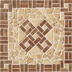 SDM35009 Travertin vícebarevná kamenná mozaika 30x30x0,9
