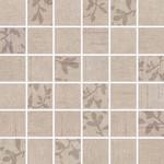 WDM05102 Textile béžová mix mozaika 4,7x4,7x0,7 30x30