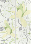 Artiga light green composition flower 50x70