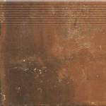 Dlažba Piatto Red Schod. Přímá 30X30X0,9